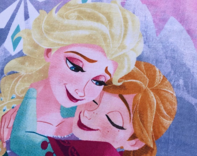 Frozen Hugging Sisters Anna & Elsa Cotton Beach  Towel only - Personalized Beach Towel