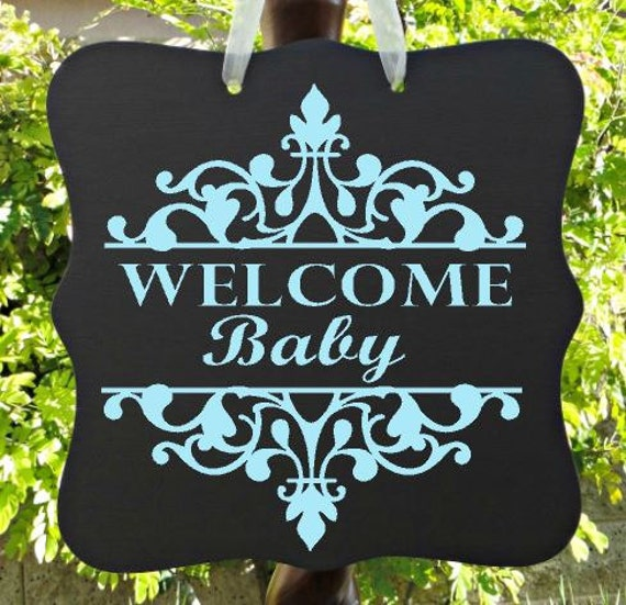 Welcome Baby Sign, Baby Boy Sign, Personalized Sign, Nursery Sign, Child Name Sign, Baby Sign, Home Decor, Baby Shower Sign
