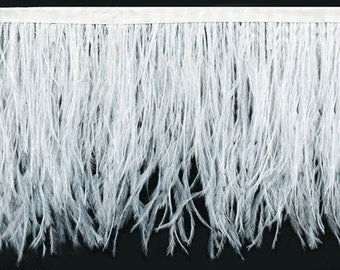 Ostrich Feather Trim in White | 25 Colors Available |  30% Off Sale! Only 12.95 per yard