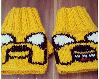 Mitts Jake \ knitted fingerless gloves \ mitts Time adventure \ mitts handmade \ gloves