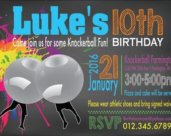 Knockerball Party Invitation