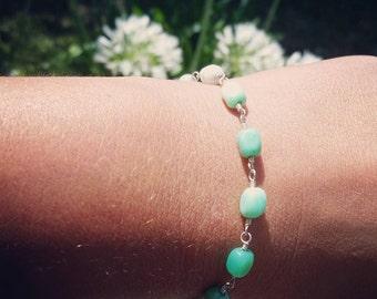 Spring Green Sterling Silver Bracelet