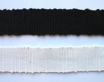 "Cotton Grosgrain Slubbed Ribbon 1"" or 24mm"