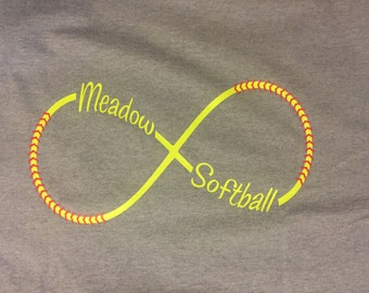 Softball Infinity TShirt Personalized