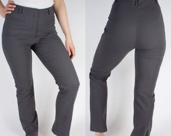 ON SALE Dark Gray Skinny Women High Waist Pants Trousers Classic Business Suit Pants Size GB 16