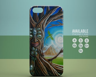 awesome surrealism tree phone case for iPhone 4, 4s, 5, 5s, 5c, 6, 6plus