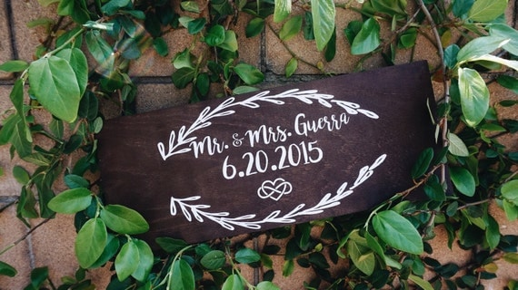Anniversary Sign|| here comes the bride sign || here comes your girl || wedding decor || ring bearer sign ||
