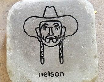 Willie Nelson Garden Stone