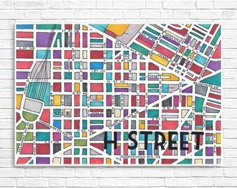 H Street Neighborhood Map