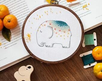 Cross stitch pattern PDF - Baby Elephant
