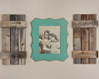 Funky Frame with Barnwood shutters