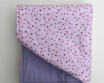 Pink baby blanket Pink Baby Shower Gift Pink Nursery Baby Girl blanket Flannel baby blanket Purple Nursery Pink and Purple Baby Shower