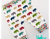 baby leggings, Baby clothes, elephant baby leggings, organic baby clothes, toddler pants, baby trousers, baby pants, baby shower, elephants