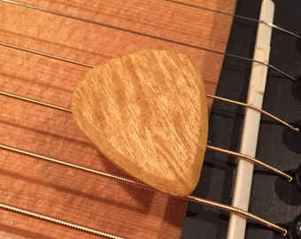 Yellowheart Wood - Wooden Guitar Pick