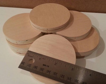 "Custom Cut Wood Circles. 3 Inch Diameter Circles. Custom Cut Wood Circles. 3"" Diameter Circles."