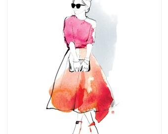 Fashion Illustration print - DIGITAL