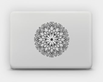 Transparent Sticker Decal for MacBook or Laptop - Mandala 10