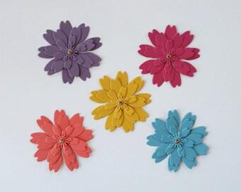 Zinnia Flower Die Cuts