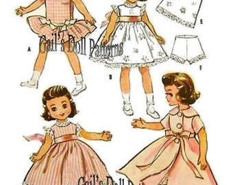 "Copy of Vintage Betsy McCall 7.5"" to 8"" Doll Wardrobe Pattern 2300."