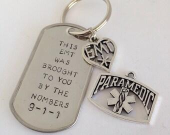 911 EMT or Paramedic Keychain