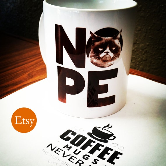 Grumpy cat nope funny office coffee mug for work or gift for him or her - Funny office coffee mugs ...