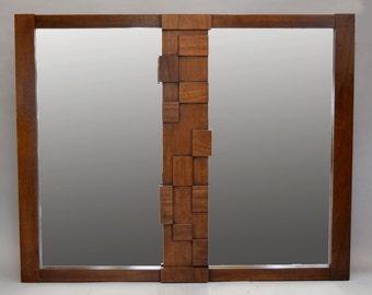 Brutalist Paul Evans -era 'Mosaic' Mirror by Lane