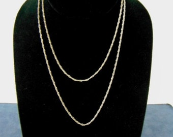 Vintage Estate Sterling Silver .925 Italian Necklace 6.9g E2284