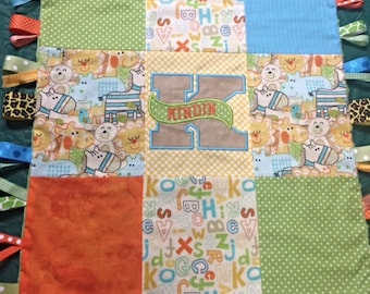 Patchwork Taggie Baby Blanket Personalized & Customized for you