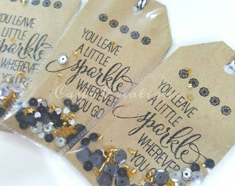 Sparkle Shaker Tags- Set of 5