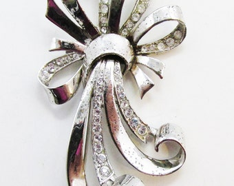Quality Vintage 1930s Signed MB with Phrygian Cap (Marcel Boucher) Sterling Rhinestone Pin