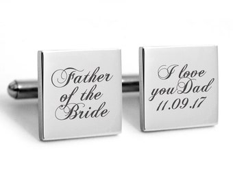 Father of the Bride Cufflinks Gifts for Dad Wedding Cufflinks GIft Fathers Day cuff links