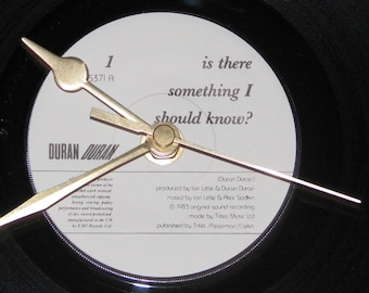 "Duran Duran Is there something i should know  7"" vinyl record clock"