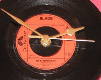 "Slade my friend stan  7"" vinyl record clock"