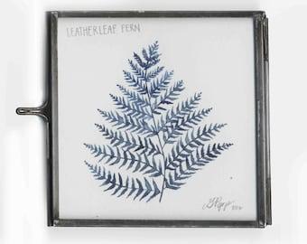 Tiny Framed Leatherleaf Fern Original