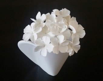 24 Sugar Blossoms Wired, 24 Gumpaste Blossoms Wired, Sugar Flower, Gumpaste Flower, Cake Topper