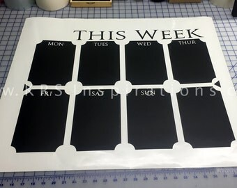 Chalkboard Calendar, Chalk It Up and Get Organized!