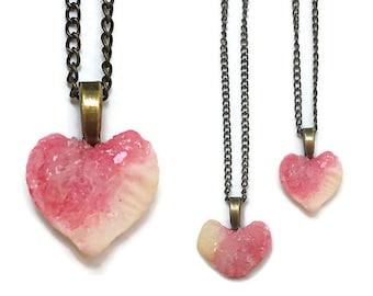 Bone Heart Necklace - Animal Bones - Taxidermy - Real Taxidermy Jewelry - Bone Jewelry - Crystallized Necklace - Crystallized Bone