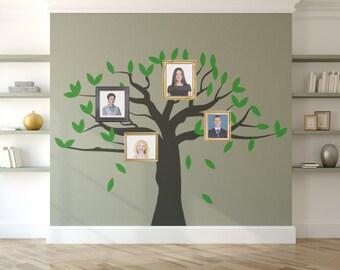 Family Tree Wall Decal Sticker - Nursery, Children's Room, Home Decor, Removable Matt Vinyl.