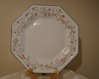 Johnson Brothers Eternal Beau Dinner Plate, Octagon Dinner Plate, Octagon Plate, Floral Vine Pattern and Embossed Plate