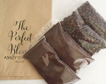 Plastic Resealable Bags for the Coffee Favor/Treat Bags