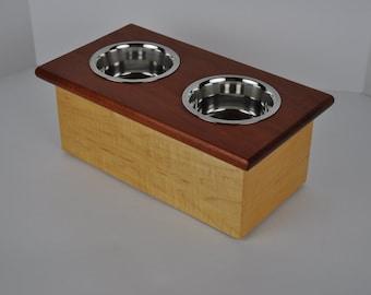 Custom Raised Dog Bowls Feeding Station