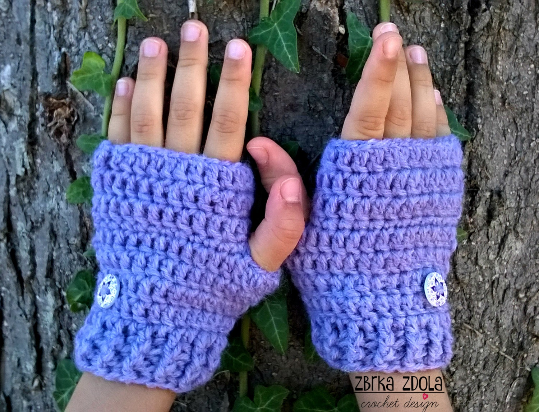 Fingerless gloves crochet pattern for beginners - This Is A Digital File