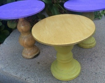 Set of 3 single cupcake stands