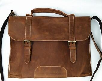 Macbook Pro Case, 13 Inch Laptop Sleeve, 13 Inch Macbook Bag, Laptop Case for Macbook Pro Retina 13, Leather Laptop Messenger Bag, 518