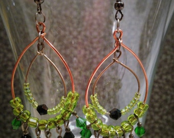 Charming Double Hoop Chandelier Earrings