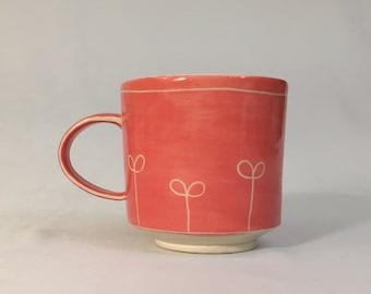 pink sprout mug