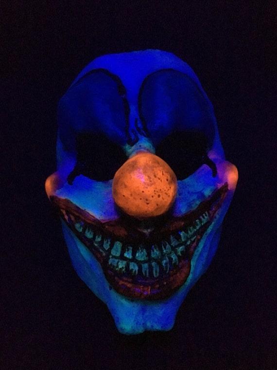 uv glow in the dark clown resin mask. Black Bedroom Furniture Sets. Home Design Ideas