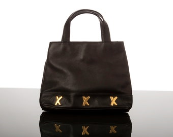 By Paloma Picasso Leather Handbag/Satchel  1980s/90s