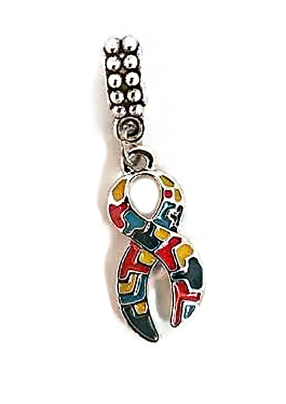 autism charm autism pendant puzzle pieces by dluxboutiqueshop