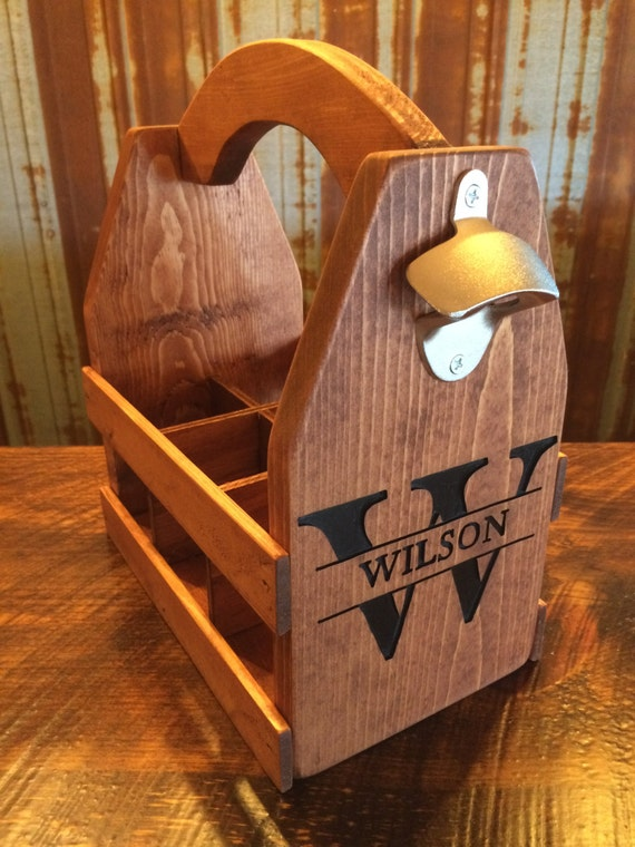 Personalized Beer Caddy - So cool, I kind of want one, let's be honest.